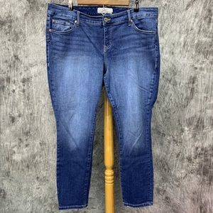 Torrid Denim Skinny Jeans Sz 16 Crop/Short